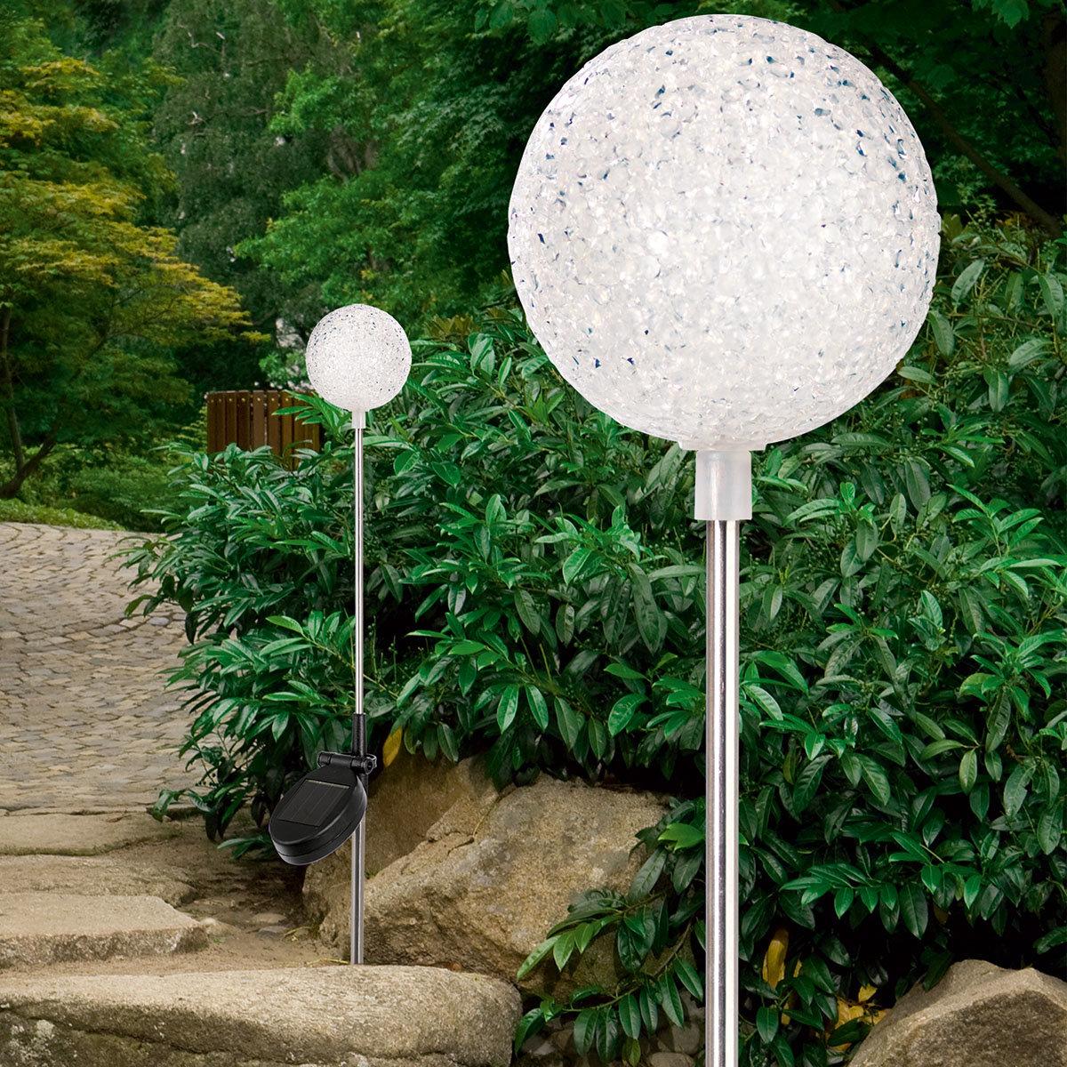 Solar-Leuchte Kristall, 2er-Set