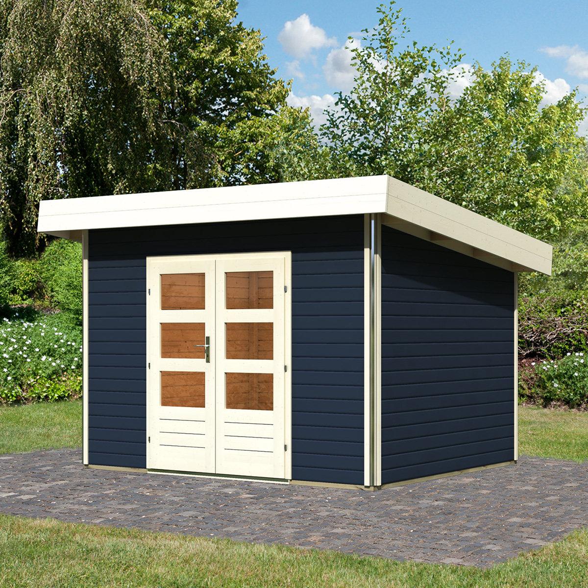 karibu gartenhaus moosburg 2 grau online kaufen bei g rtner p tschke. Black Bedroom Furniture Sets. Home Design Ideas
