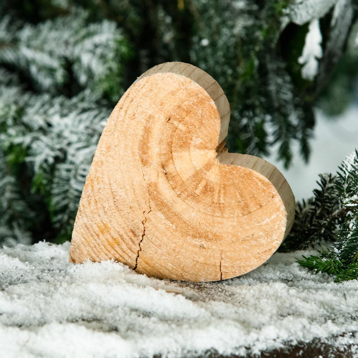 Holz-Herz Natürliche Weihnacht, klein