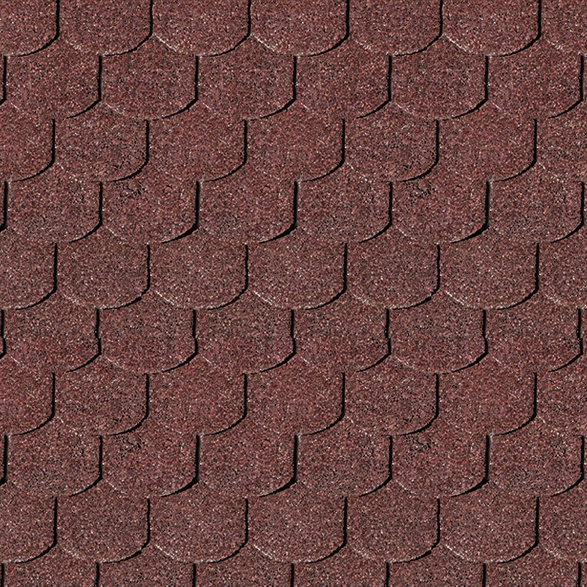 KARIBU Dachschindeln Biberschwanz, rot