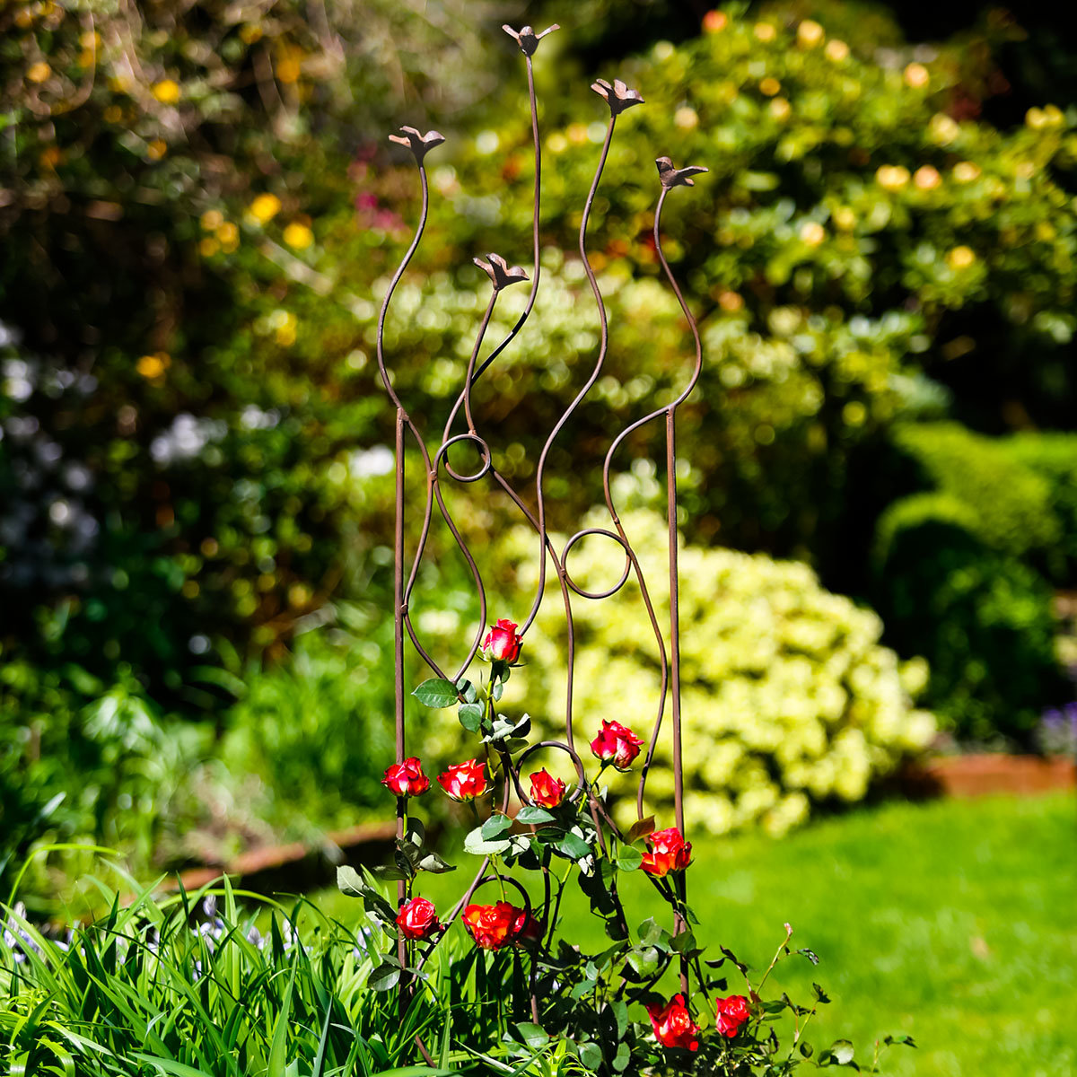 Gartenstecker Vogelschwarm