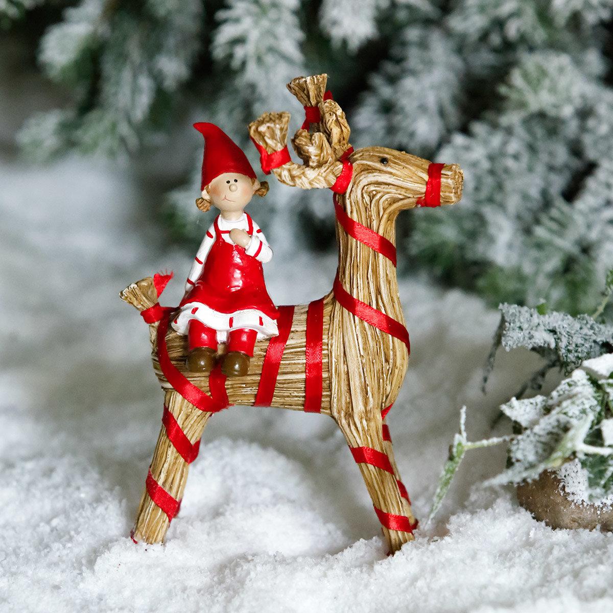 Weihnachtsfigur Julbock, klein