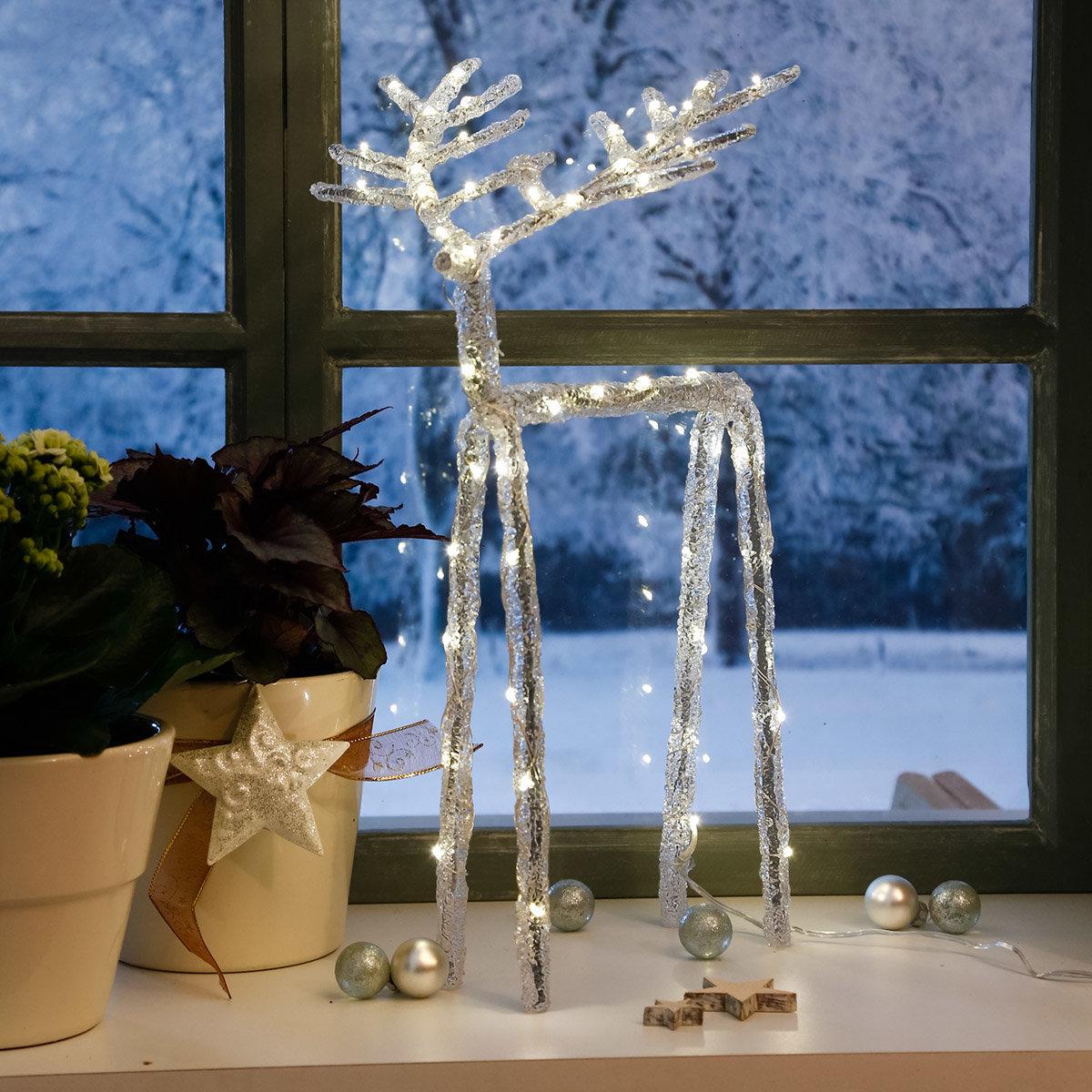 LED-Rentier Crystal Winter, groß