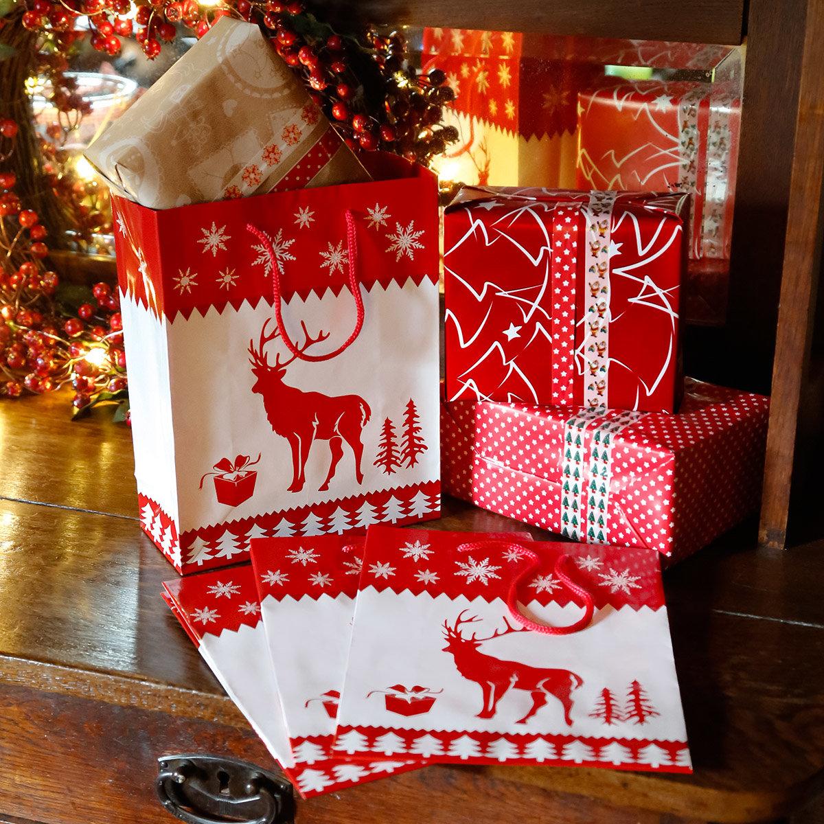 Geschenktüten Rentier, 4er-Set