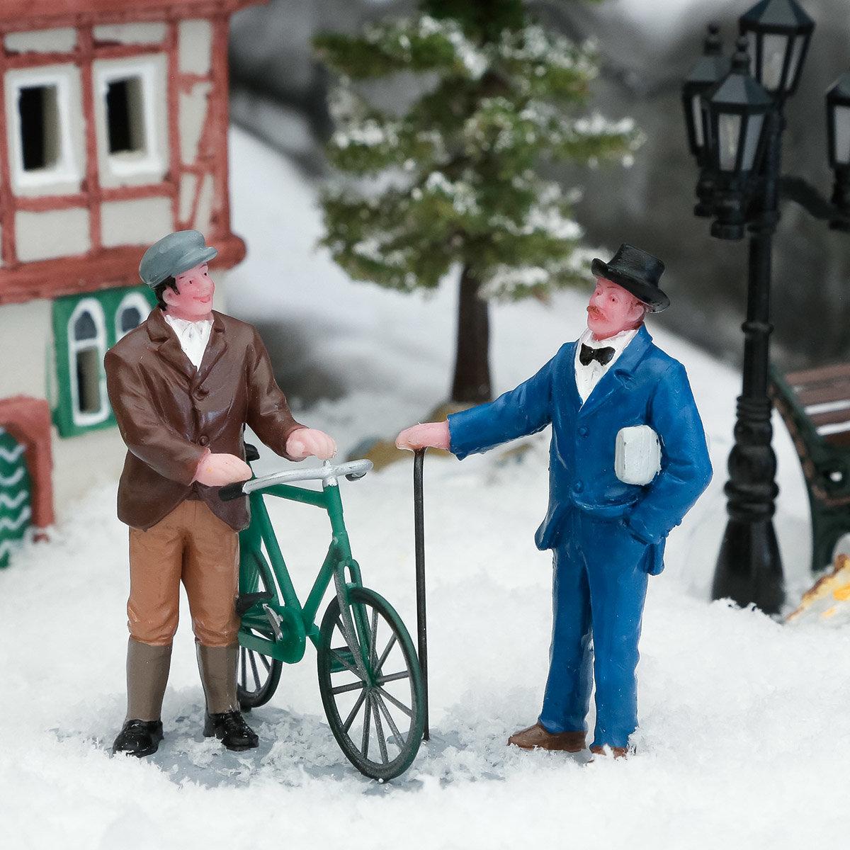 Miniatur-Figuren Stadtgespräch, 2er-Set