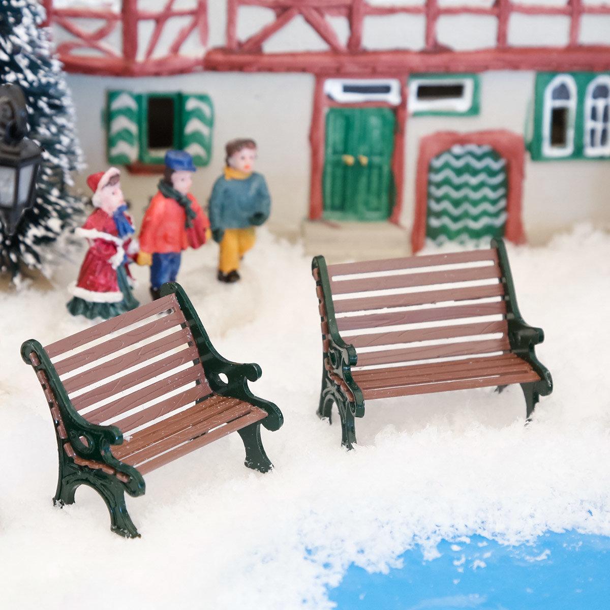Miniatur-Parkbänke, 2er-Set