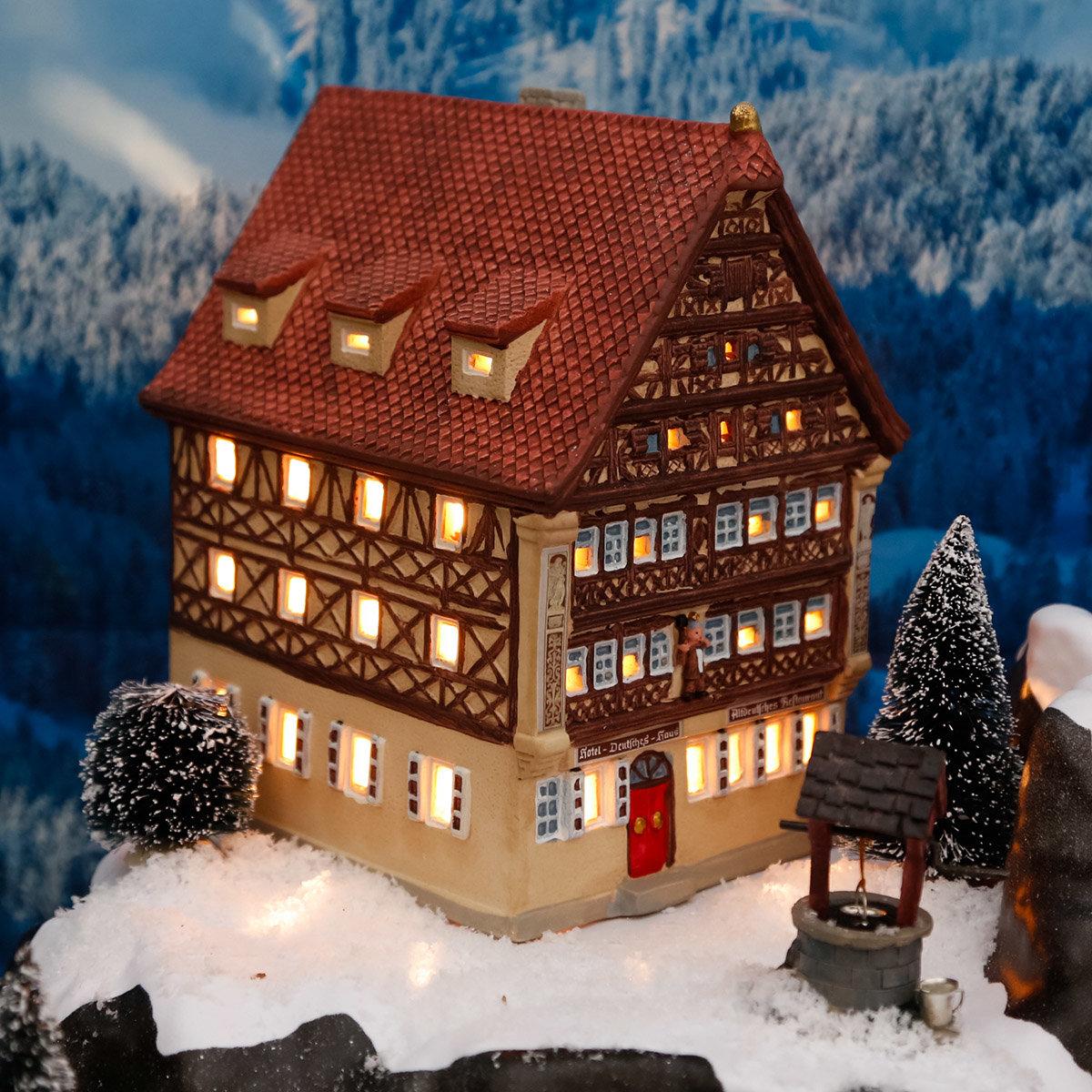 Miniatur-Lichthaus Deutsches Haus in Dinkelsbühl