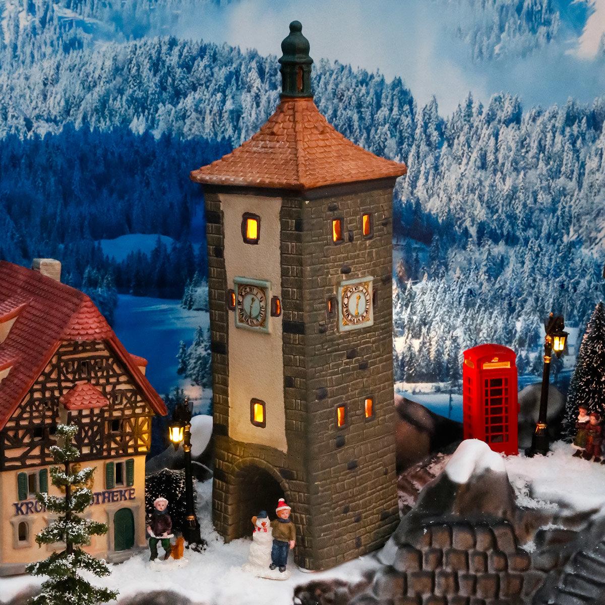 Miniatur-Lichthaus Siebertsturm in Rothenburg