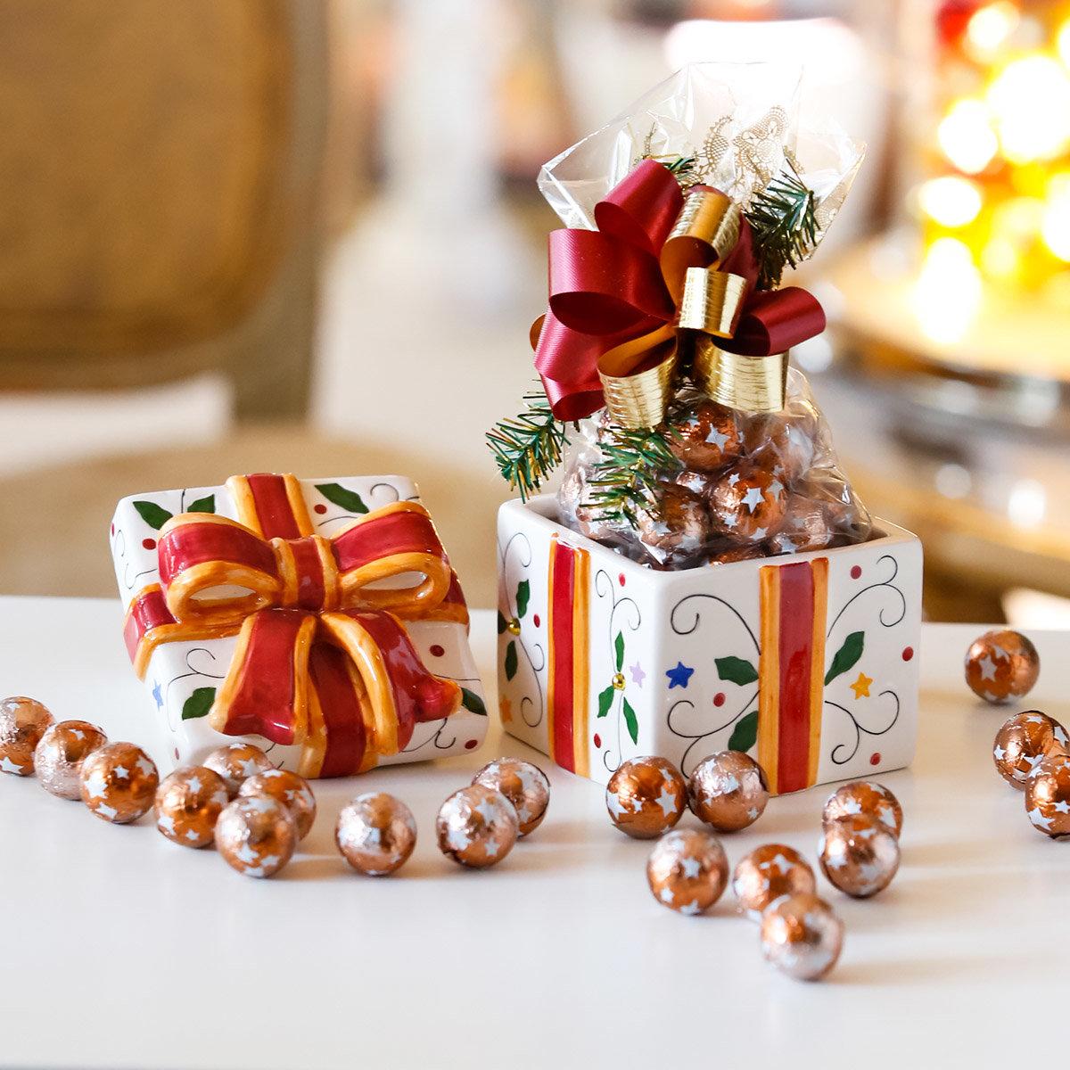 Keramik-Dose Weihnachtspräsent