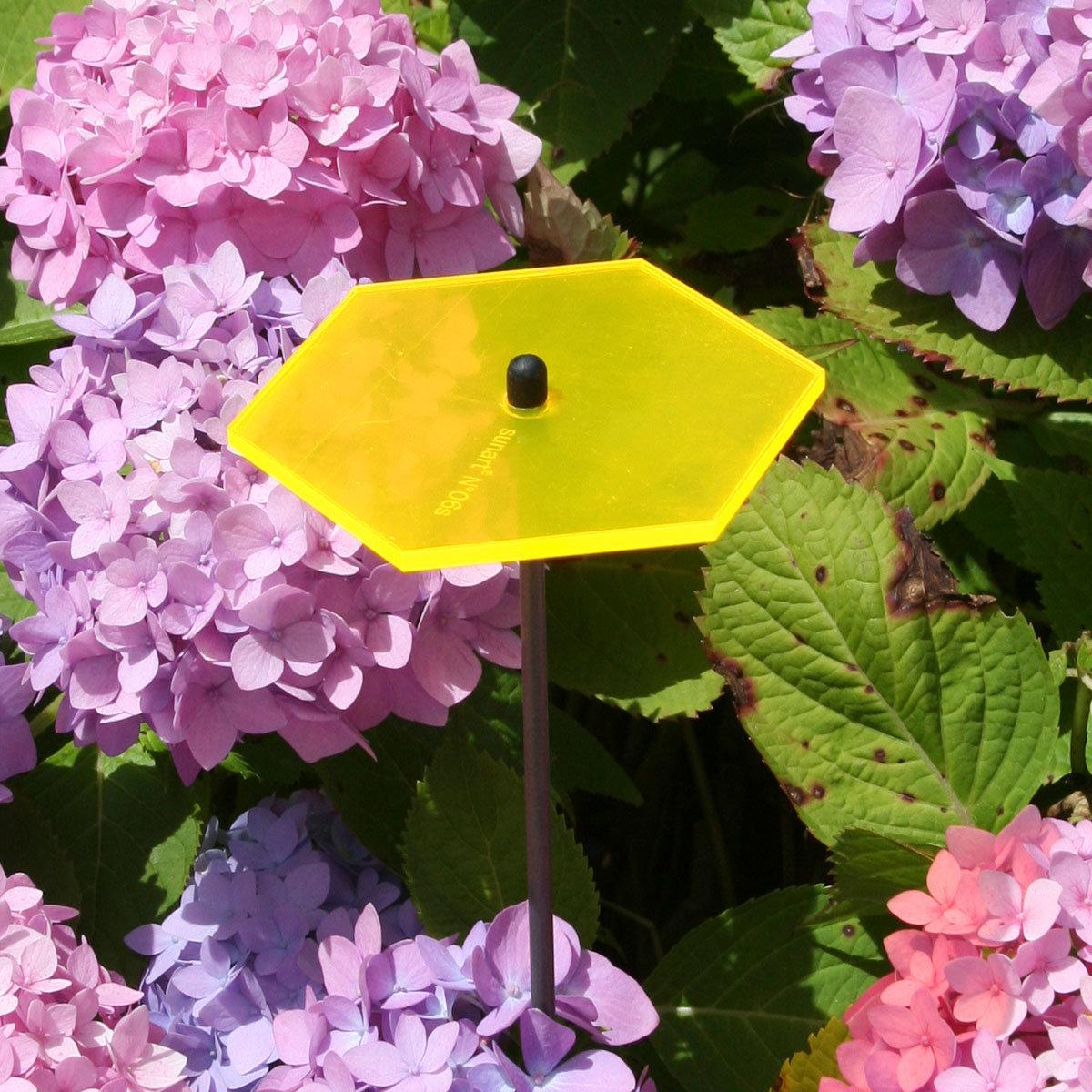 sunart® Acrylglas Lichtfänger, Hexagon, gelborange