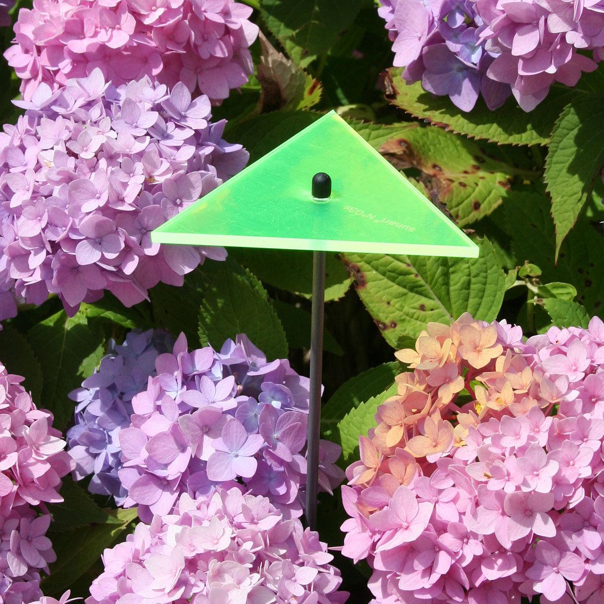sunart® Acrylglas Lichtfänger, Dreieck, grün