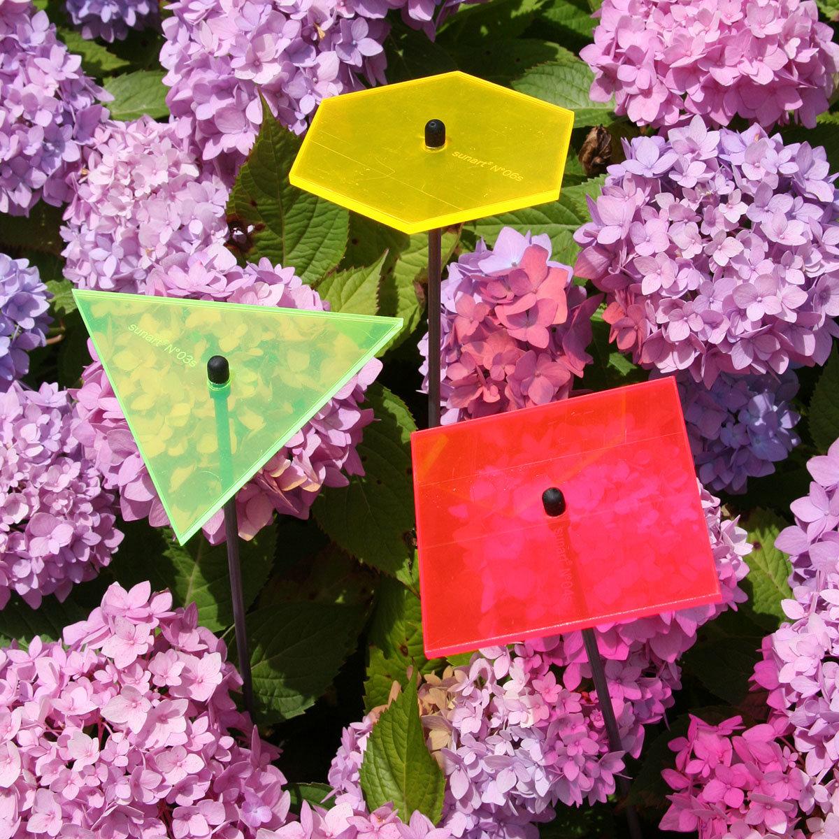 sunart® Acrylglas Lichtfänger 3er-Set, Sechseck, Quadrat, Dreieck
