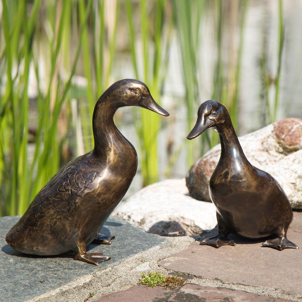 Bronze-Figuren Entenpaar Luis & Selma