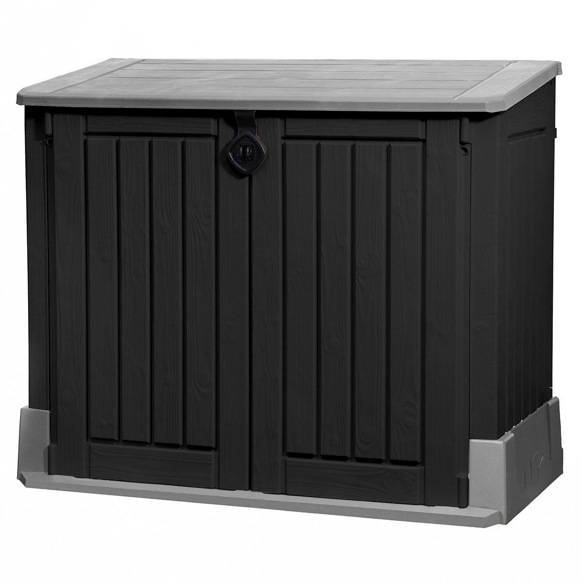 Store It Out Midi Aufbewahrungsbox Woodland 845 L, schwarz-grau