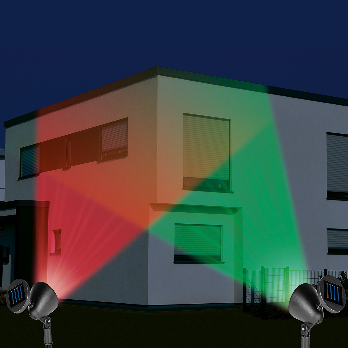 Solar-Strahler LED Multi-Color 2er-Set