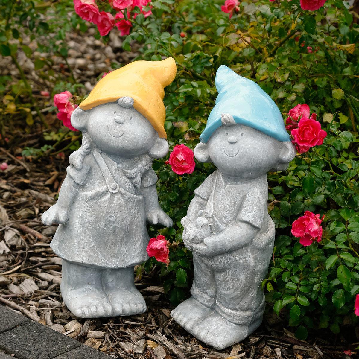Gartenzwerge Luis & Luisa, 2er-Set