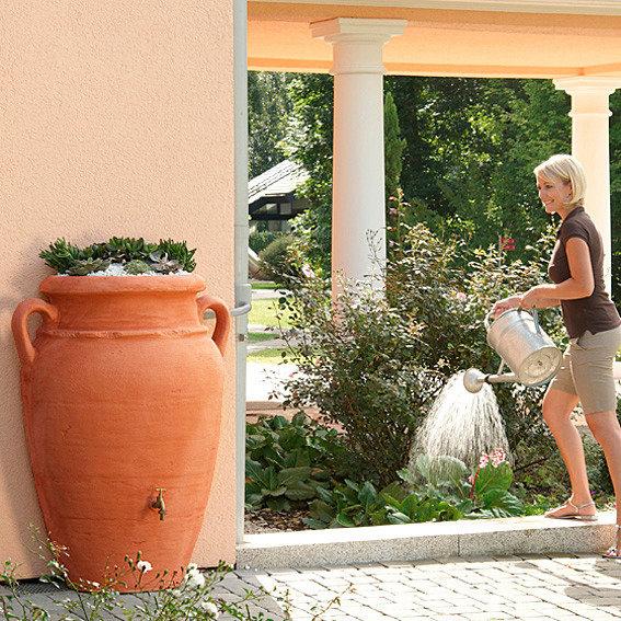 Regenwassertank Wand-Amphore 260 Liter, terracotta