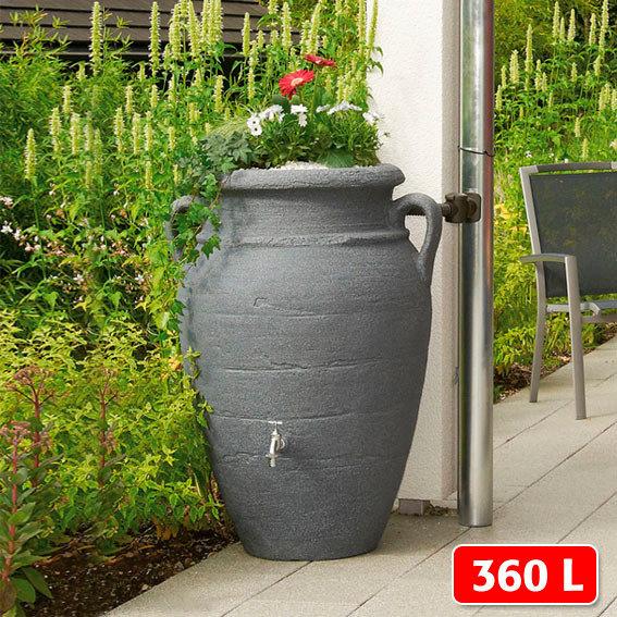 Regenwassertank Amphore 360 Liter, granit