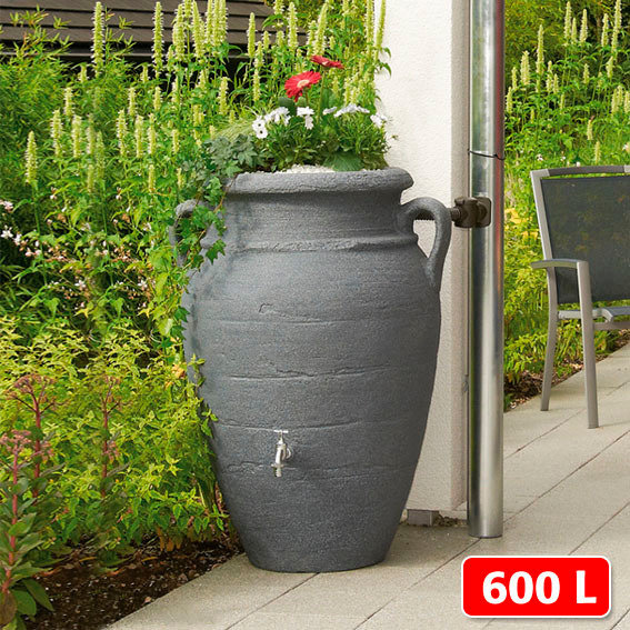 Regenwassertank Amphore 600 Liter, granit