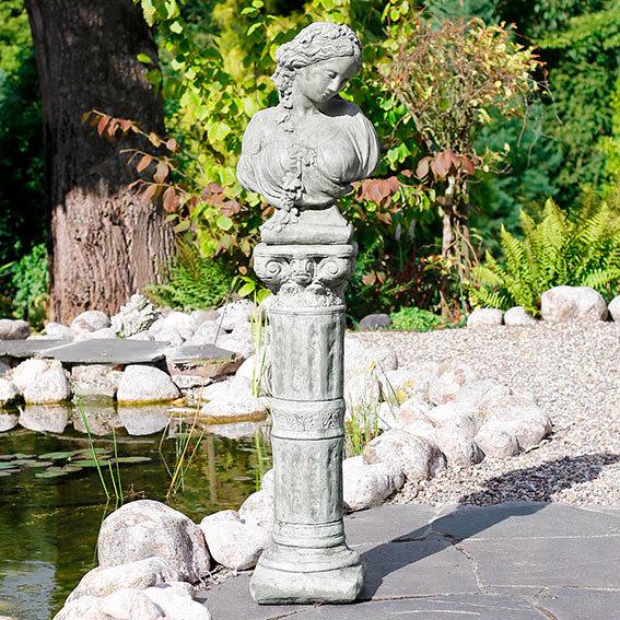 Steinfigur Büste Kate inkl. Säule