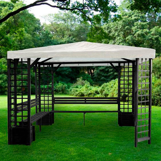 pavillon mindelheim anthrazit mit wei em dach von g rtner p tschke. Black Bedroom Furniture Sets. Home Design Ideas