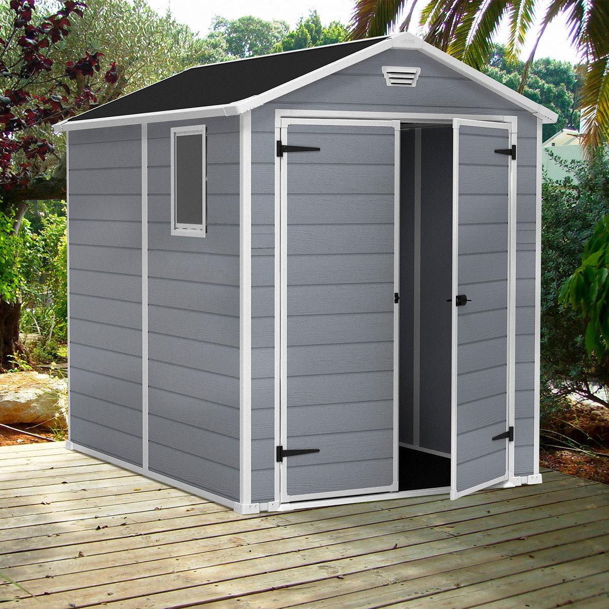 ger tehaus manor 6x8 dd inkl doppelt r fenster von. Black Bedroom Furniture Sets. Home Design Ideas