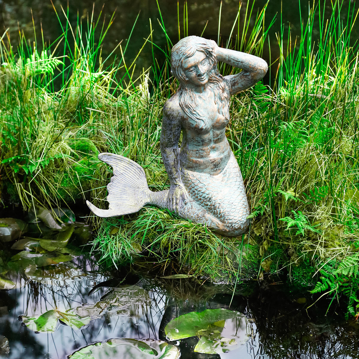 Gartenfigur Meerjungfrau Yara