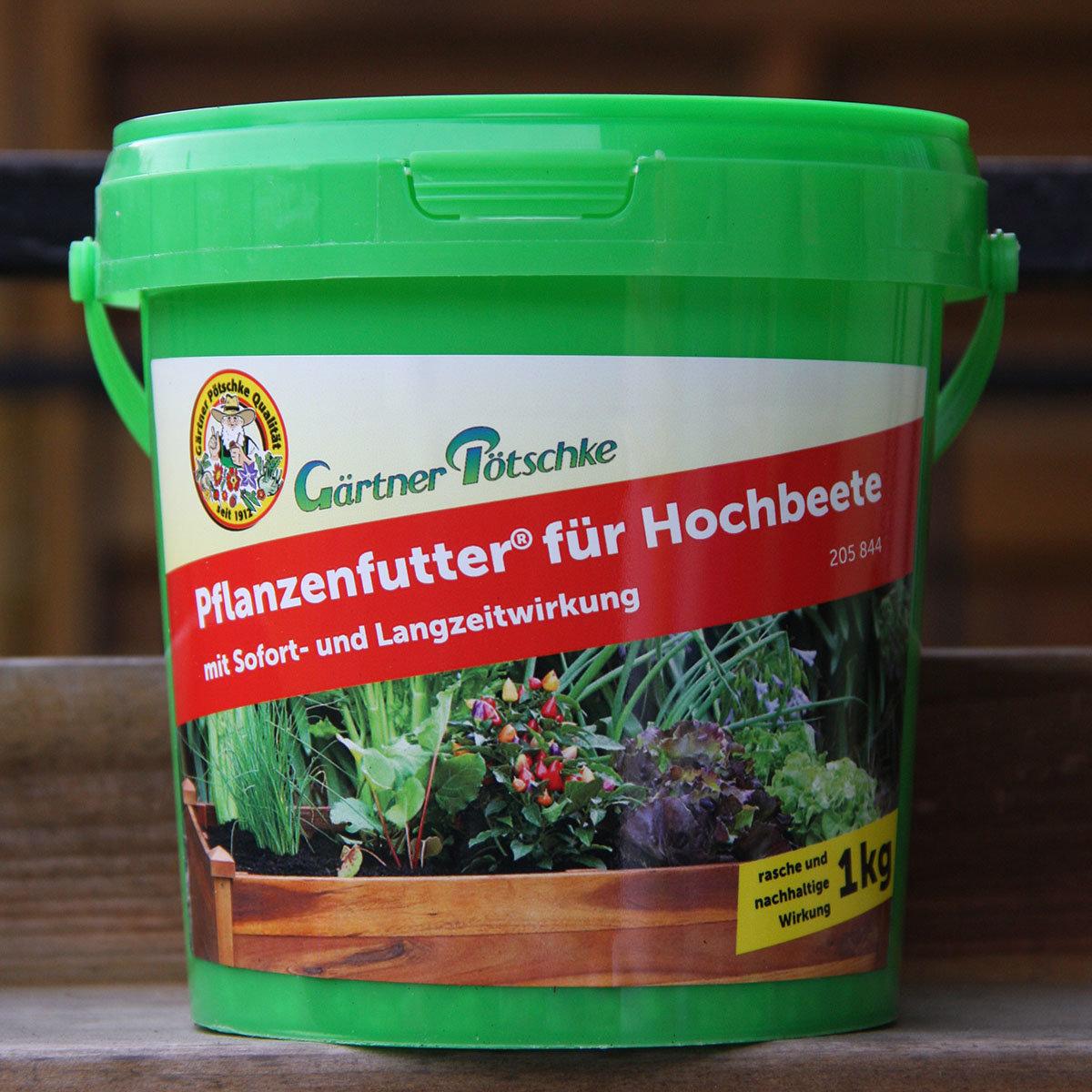 Gärtner Pötschke Pflanzenfutter für Hochbeete, 1 kg