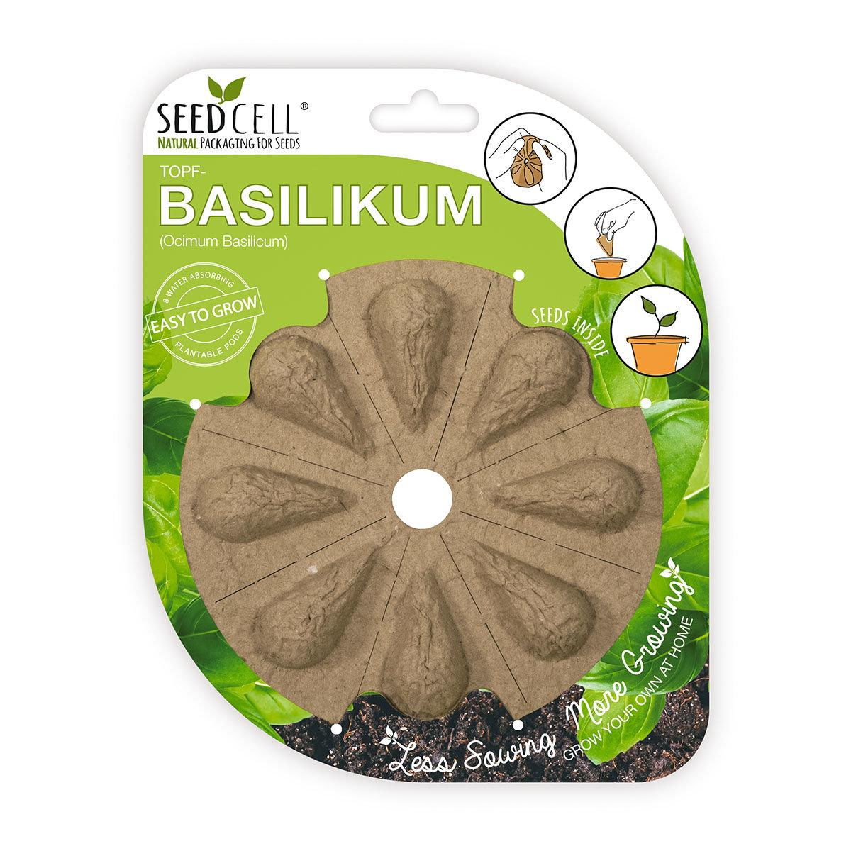 Seedcell Topf-Basilikum, 8 Seedcells