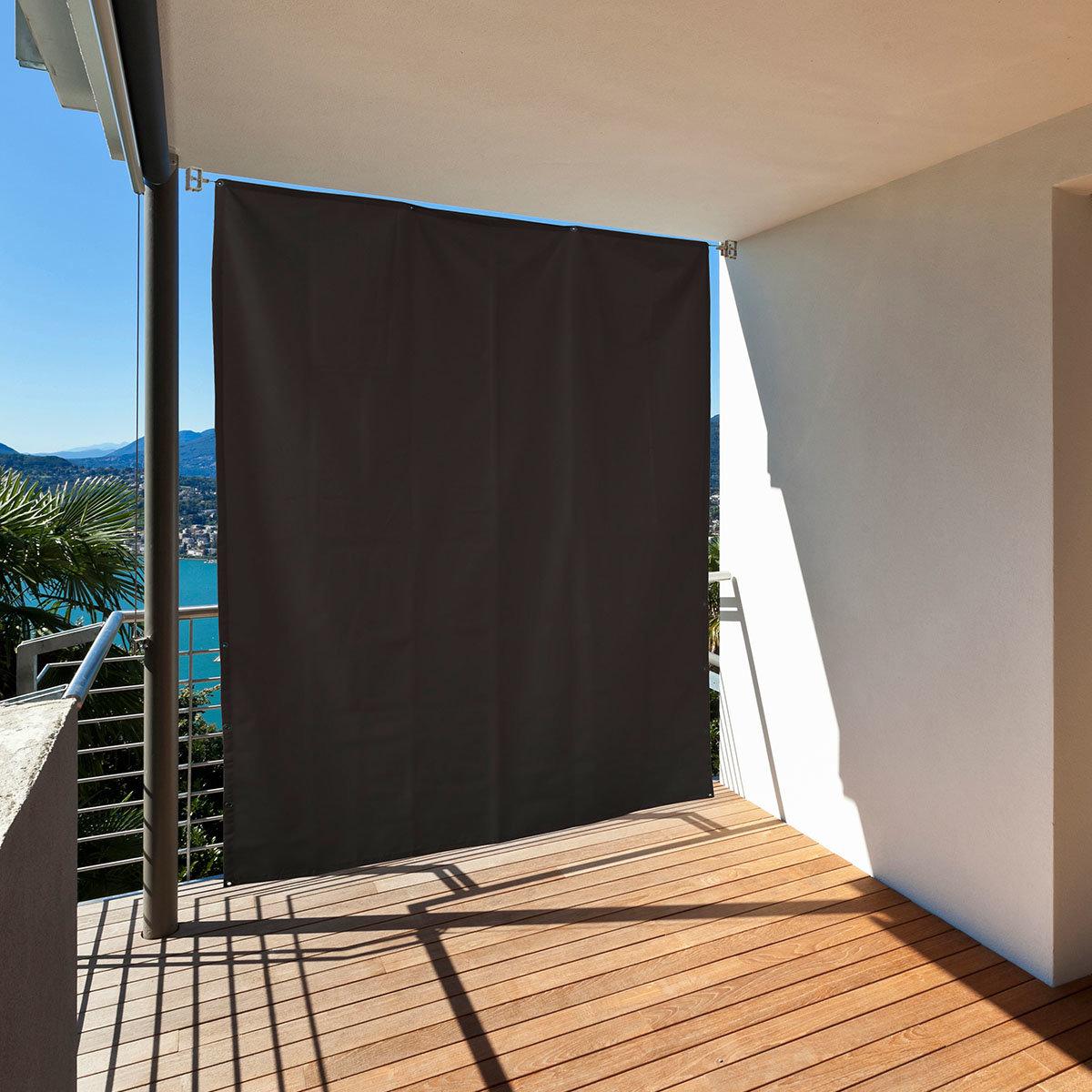 Balkon Sonnenschutz, anthrazit