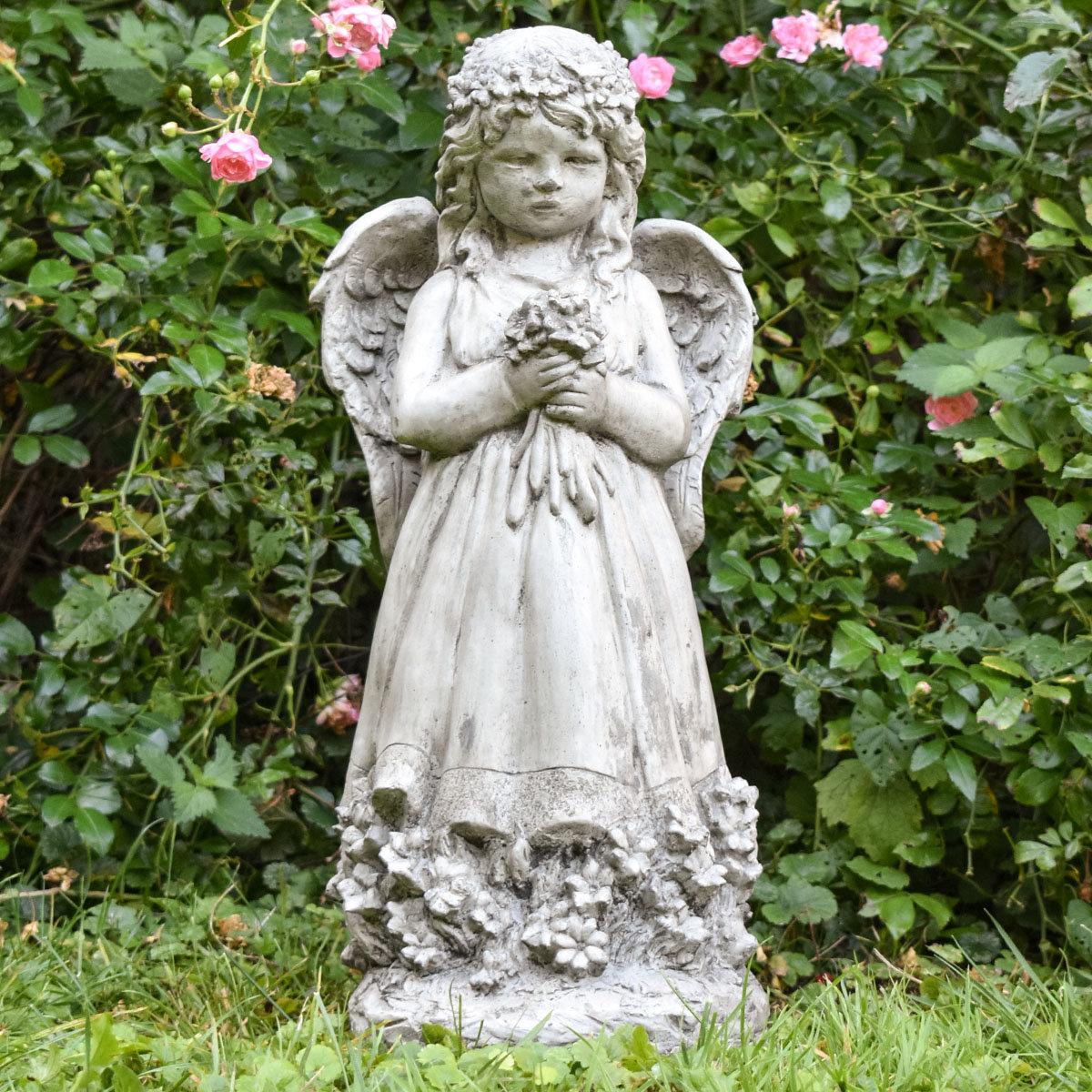 Gartenfigur Blumenengel Fiona