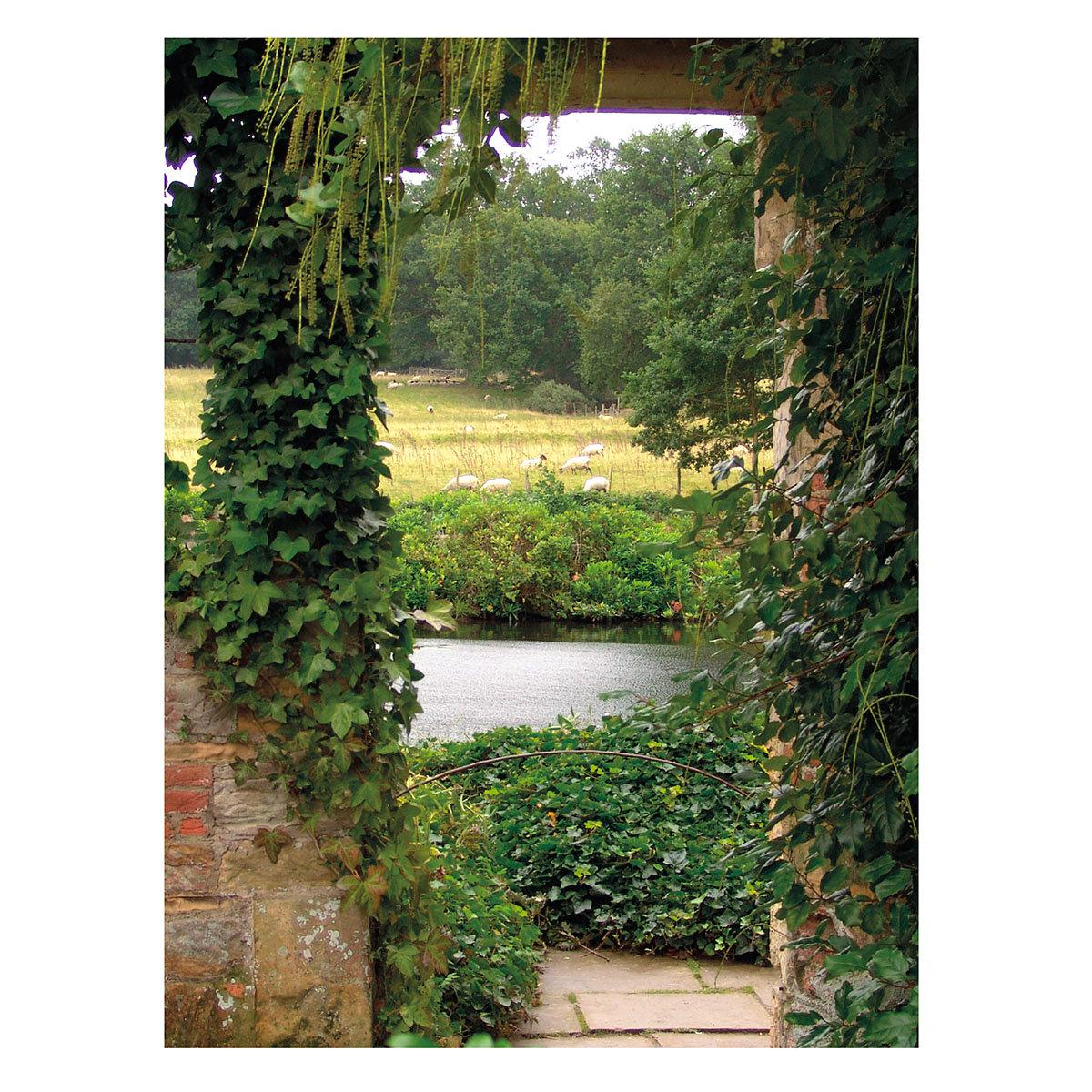 Gartengemälde Weiher 140 x 79 cm