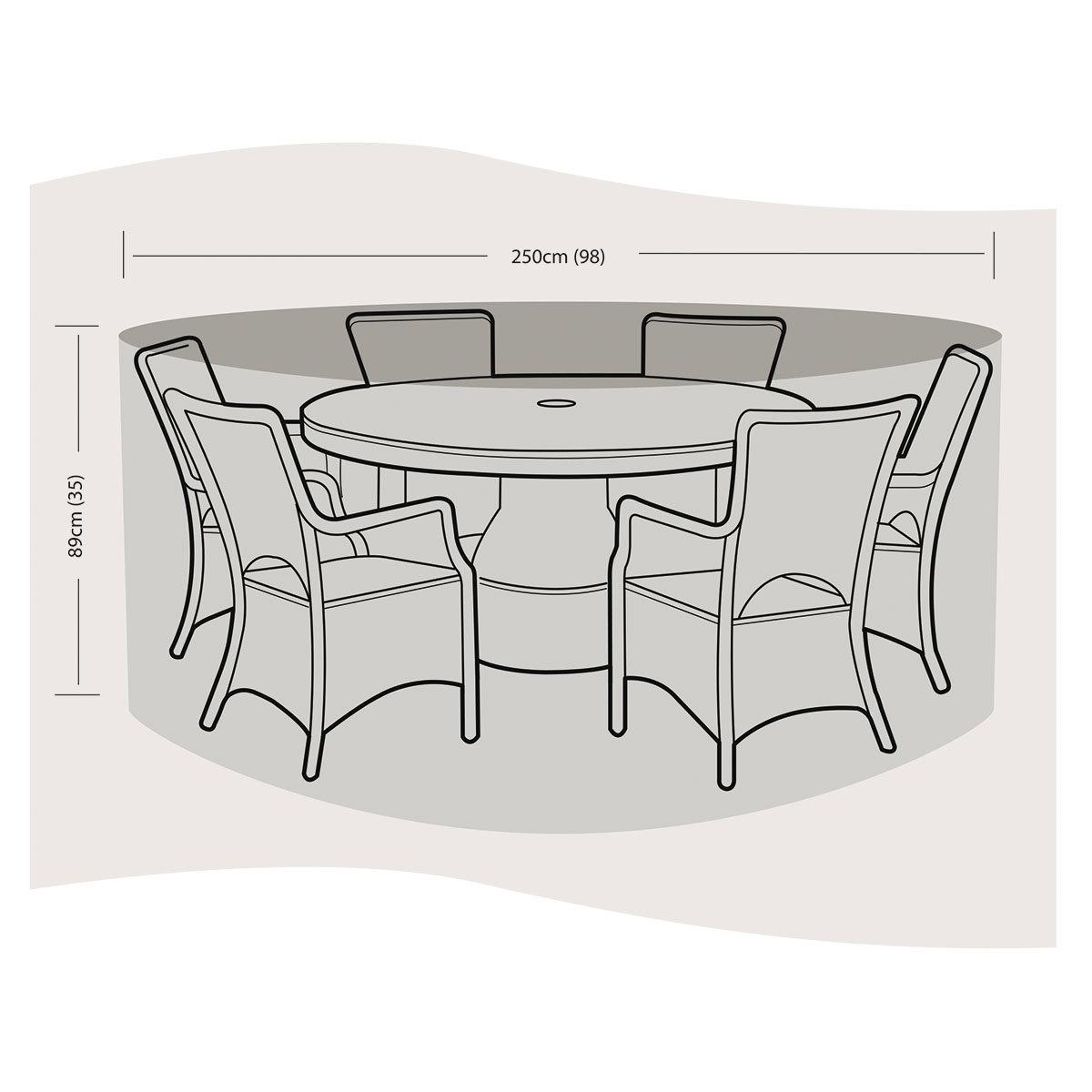 Schutzhülle für Sitzgruppe groß, rund