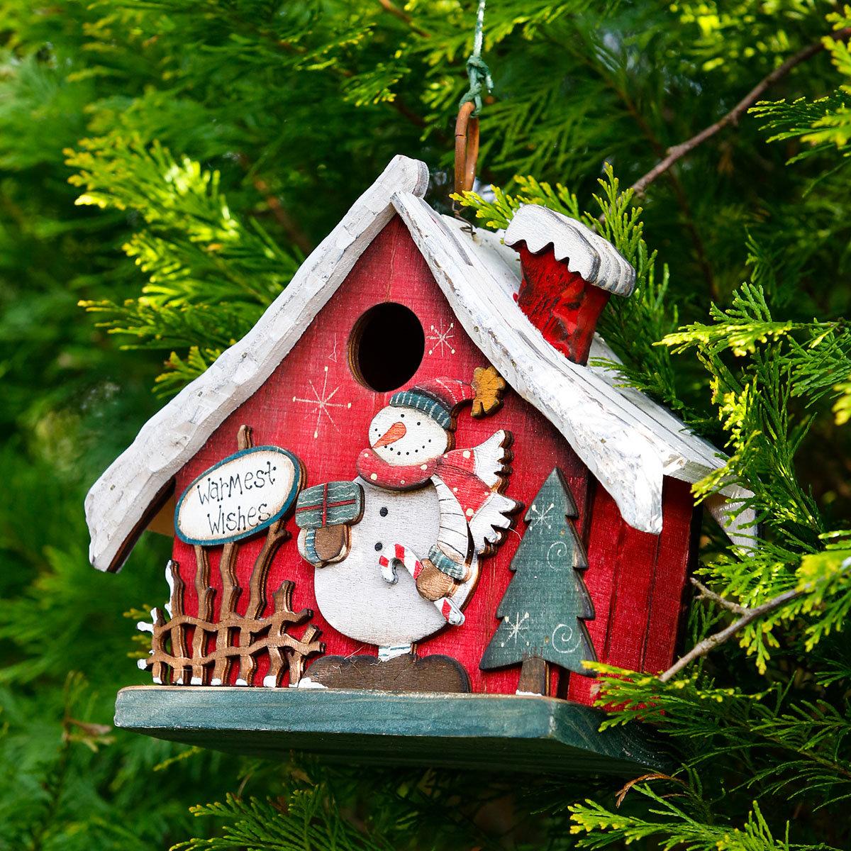 Deko-Vogelhaus Weihnachtsglück
