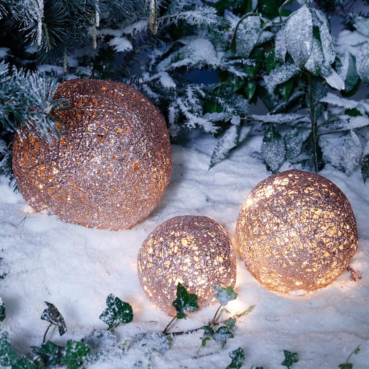 LED-Glitzerkugel Sternenstaub, groß
