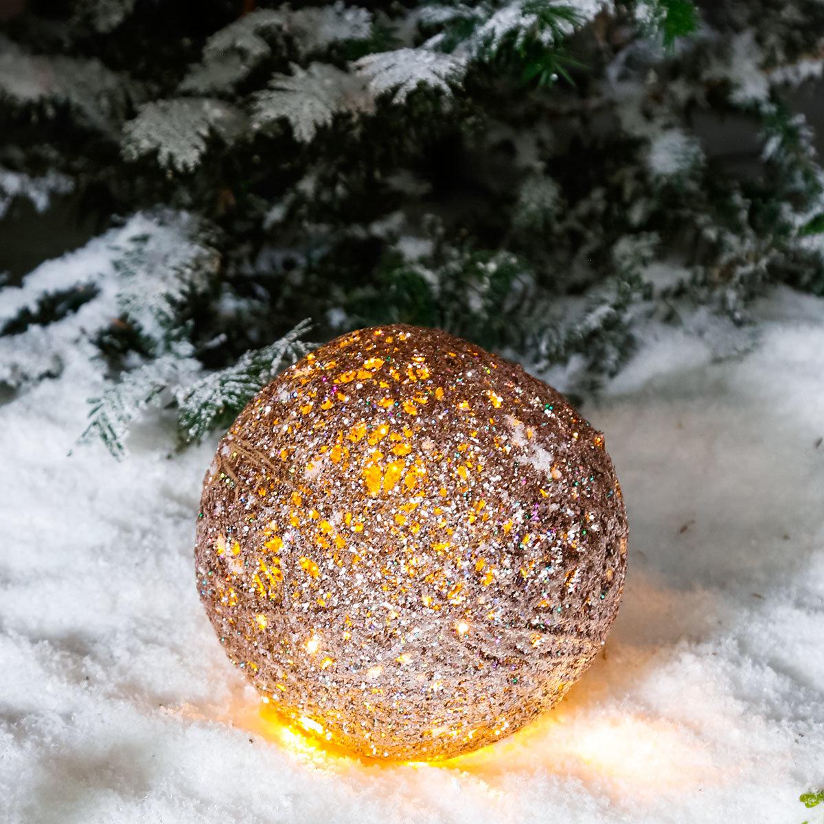 LED-Glitzerkugel Sternenstaub, klein