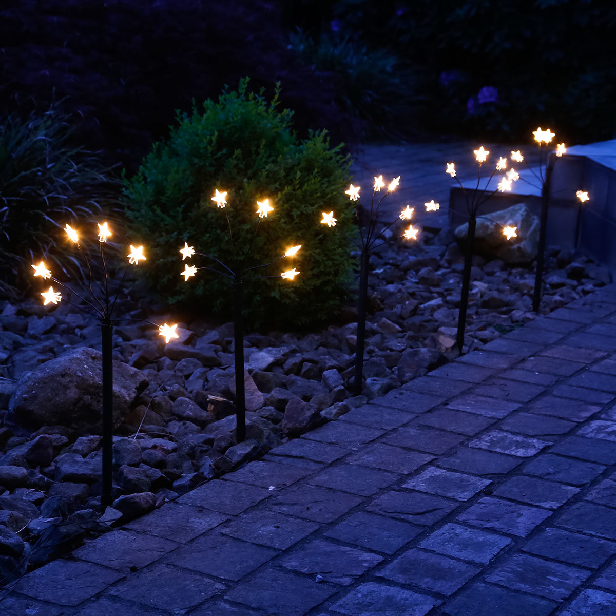 LED-Gartenstecker Sternenschein
