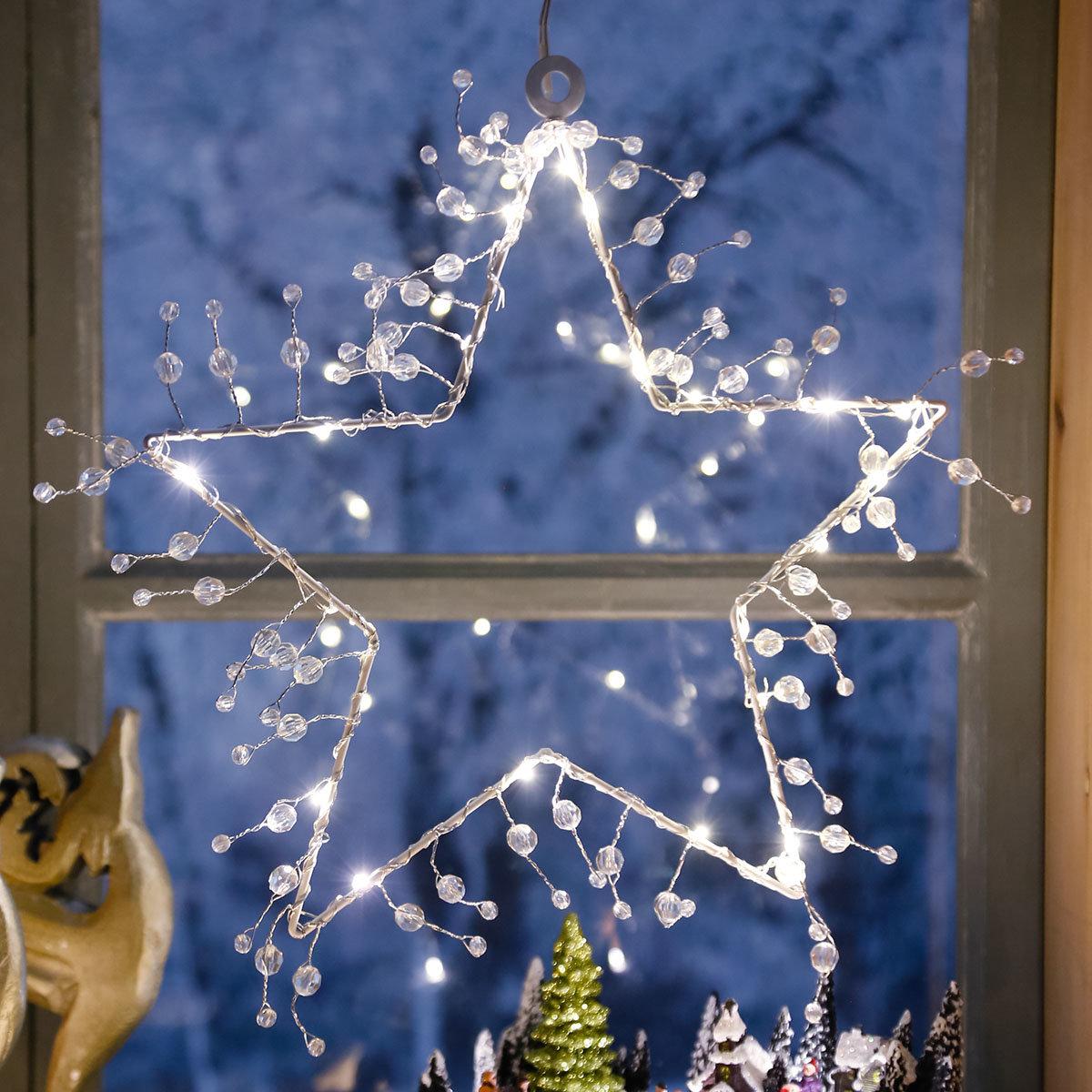LED-Fensterstern Wintertraum