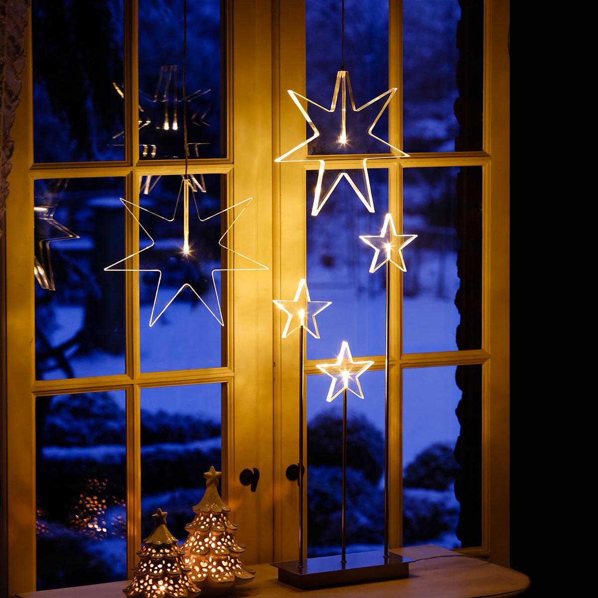 LED-Fensterstern Kristall Weihnacht
