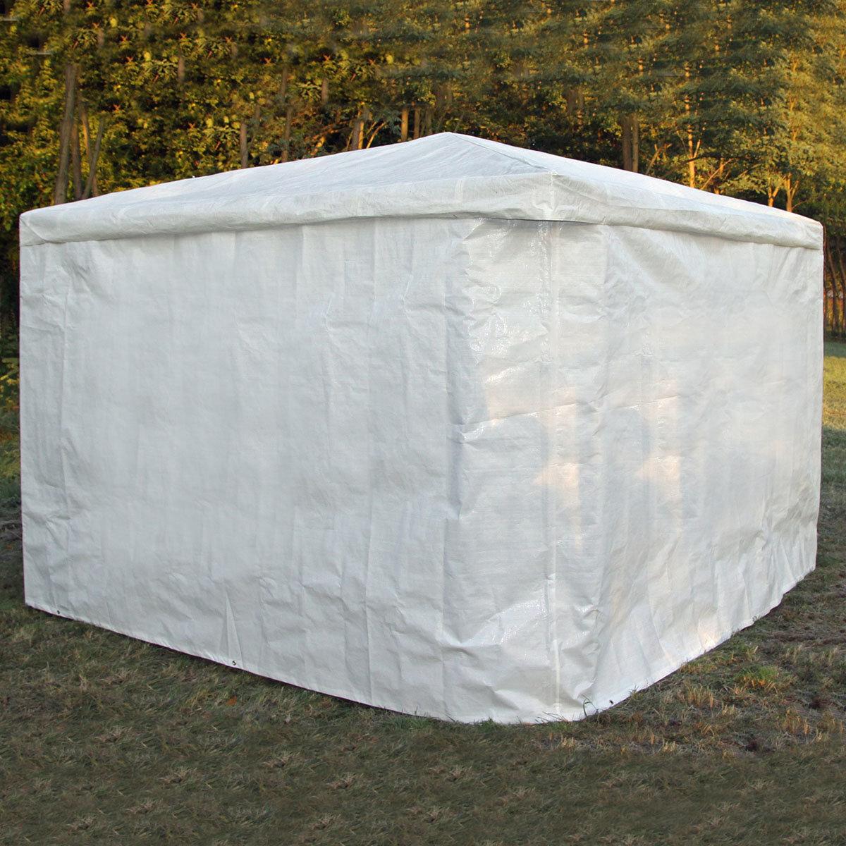 Wetterschutzumhang weiß für Pavillon Mindelheim