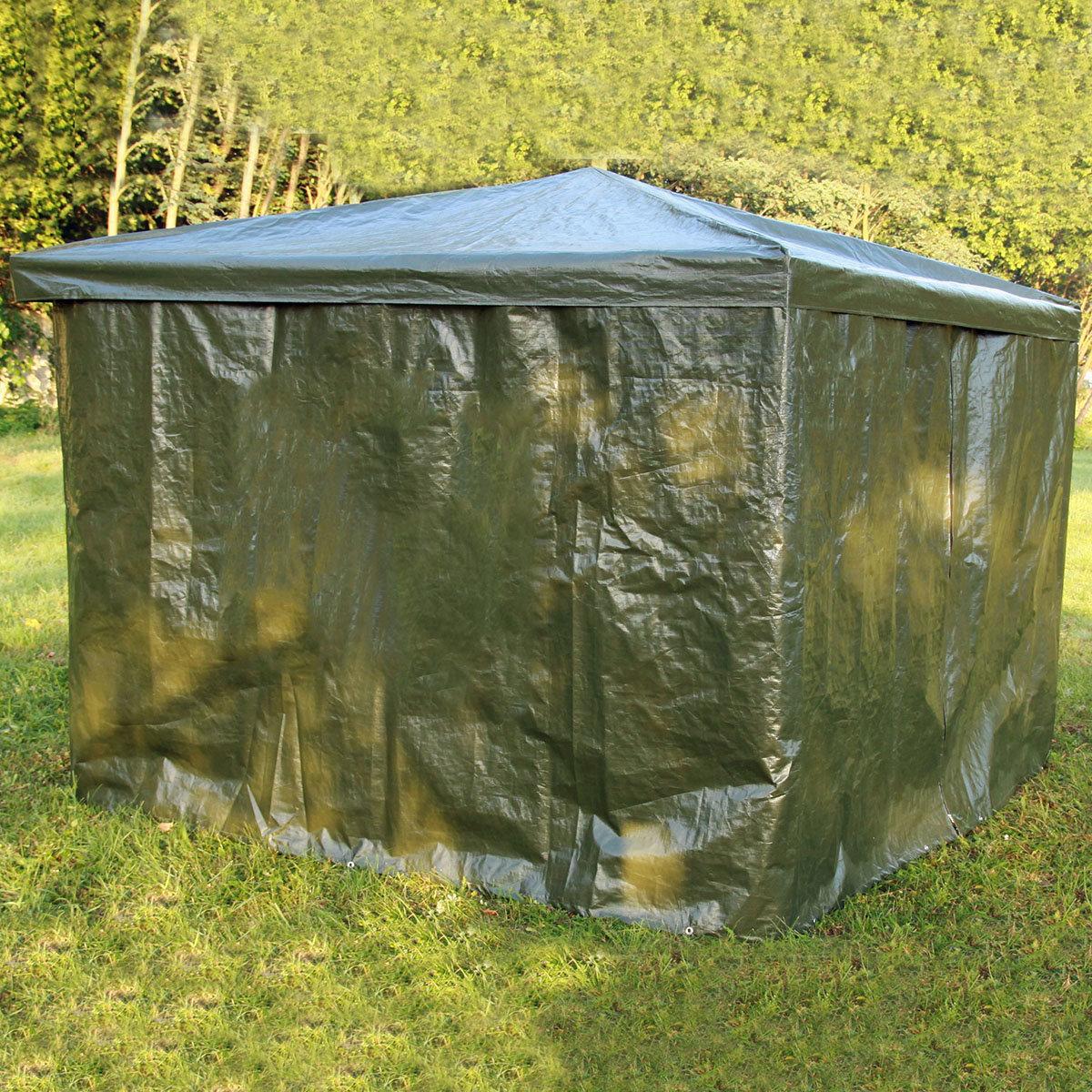 Wetterschutzumhang grün für Pavillon Mindelheim