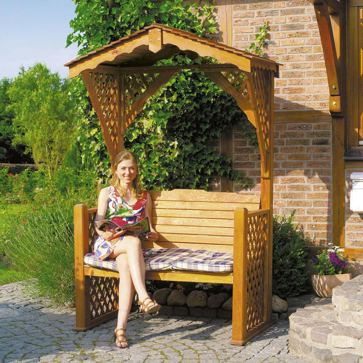 Gartenlaube Starnberg mit Sitzauflage