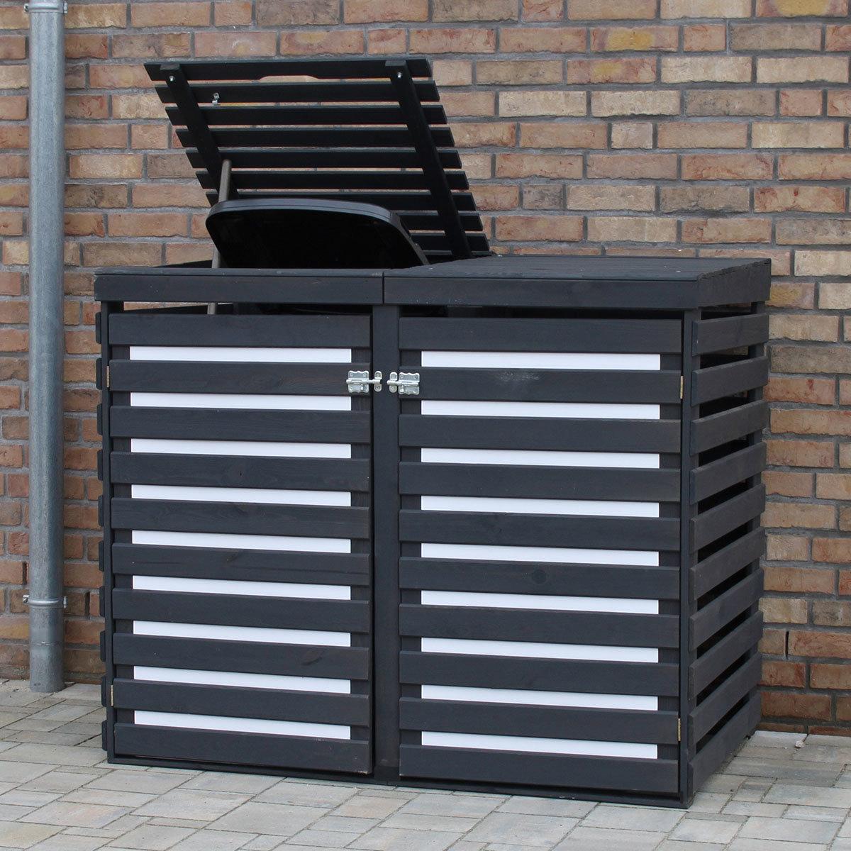 CYO Mülltonnendoppelbox anthrazit