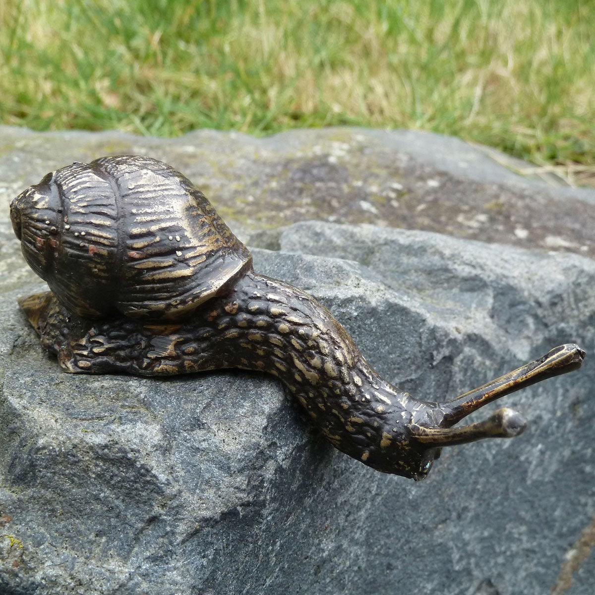 Bronze-Figur Schnecke Eliot