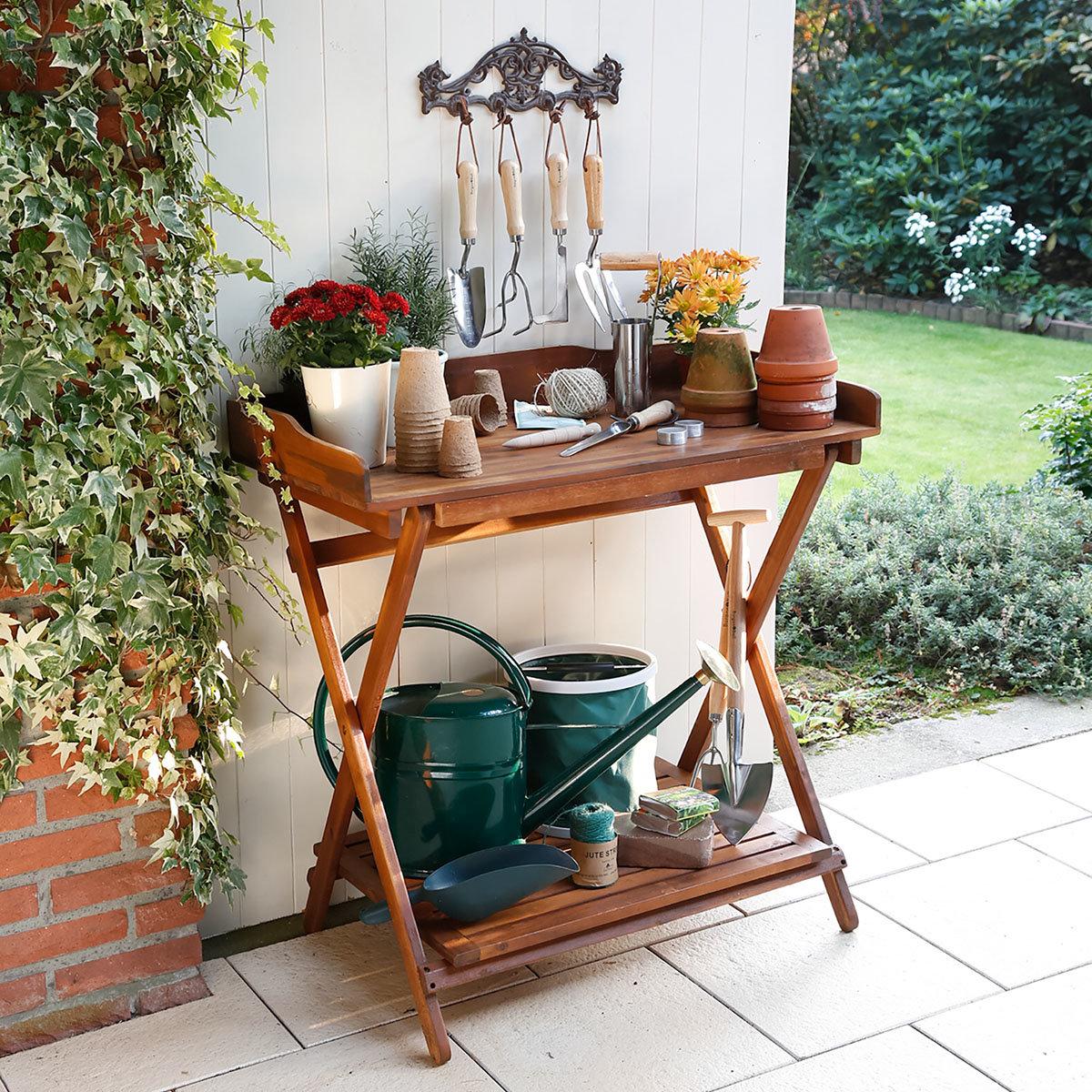 pflanz arbeitstisch klappbar online kaufen bei g rtner p tschke. Black Bedroom Furniture Sets. Home Design Ideas