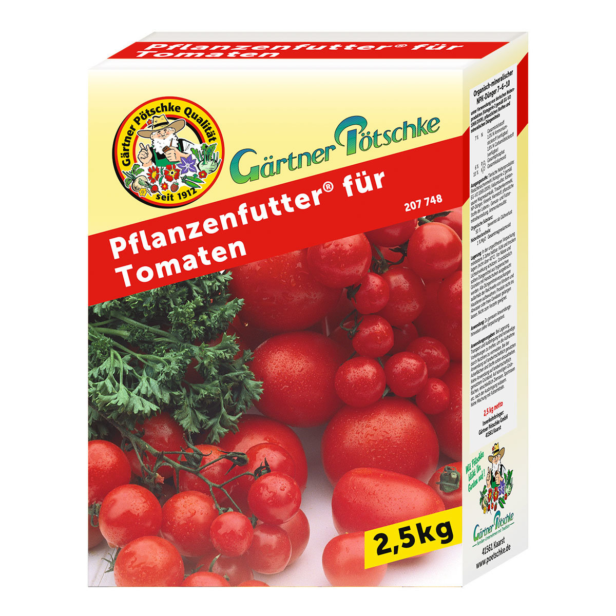 g rtner p tschke pflanzenfutter f r tomaten 2 5 kg von. Black Bedroom Furniture Sets. Home Design Ideas