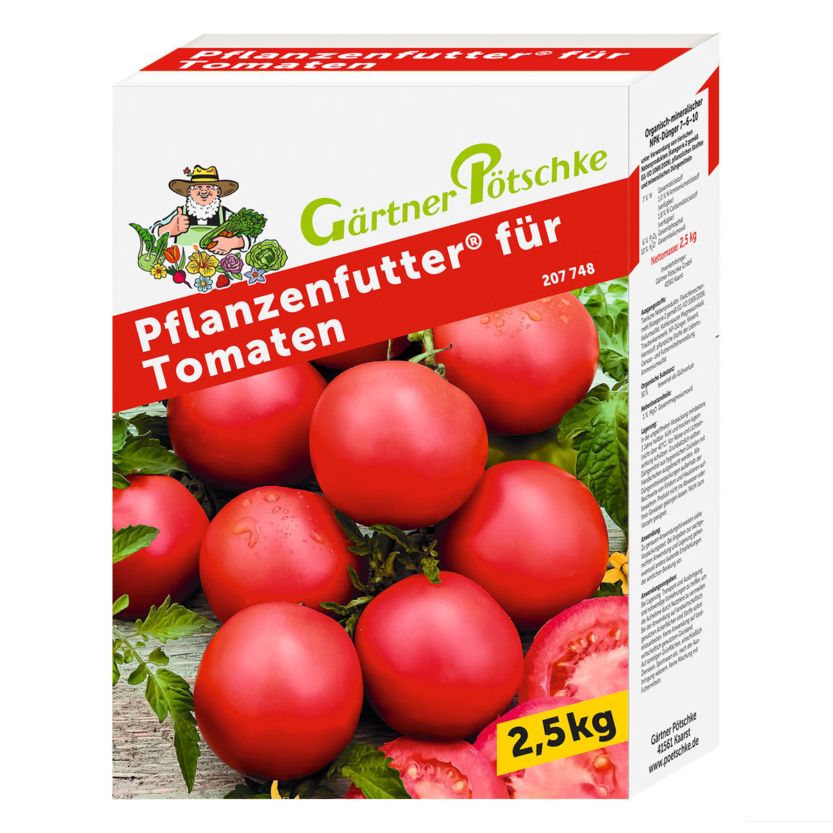 g rtner p tschke pflanzenfutter f r tomaten 2 5 kg online kaufen bei g rtner p tschke. Black Bedroom Furniture Sets. Home Design Ideas