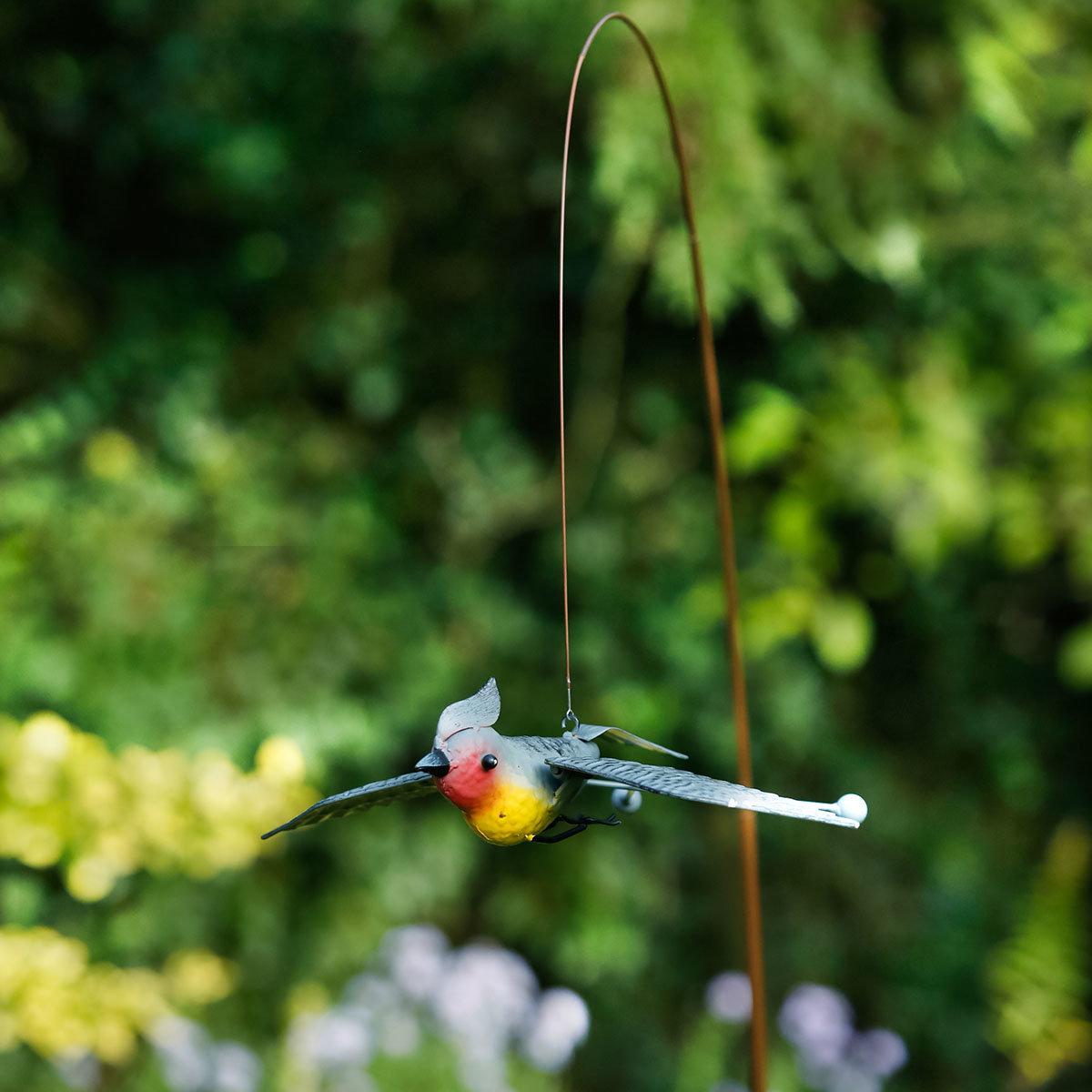 Gartenstecker Vogelflug