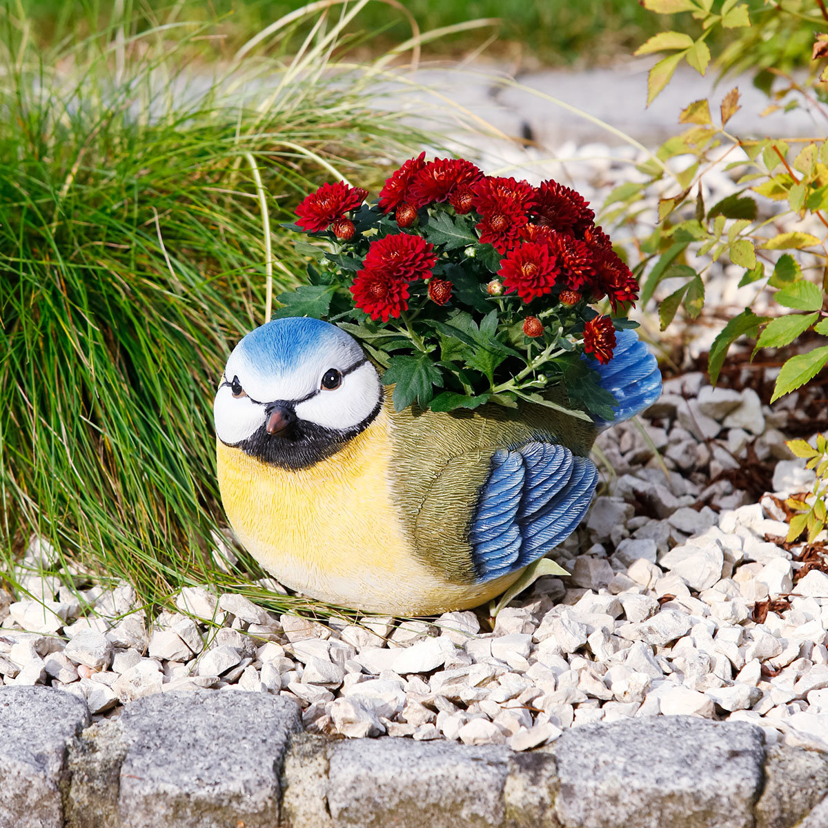 Pflanztopf Blaumeise