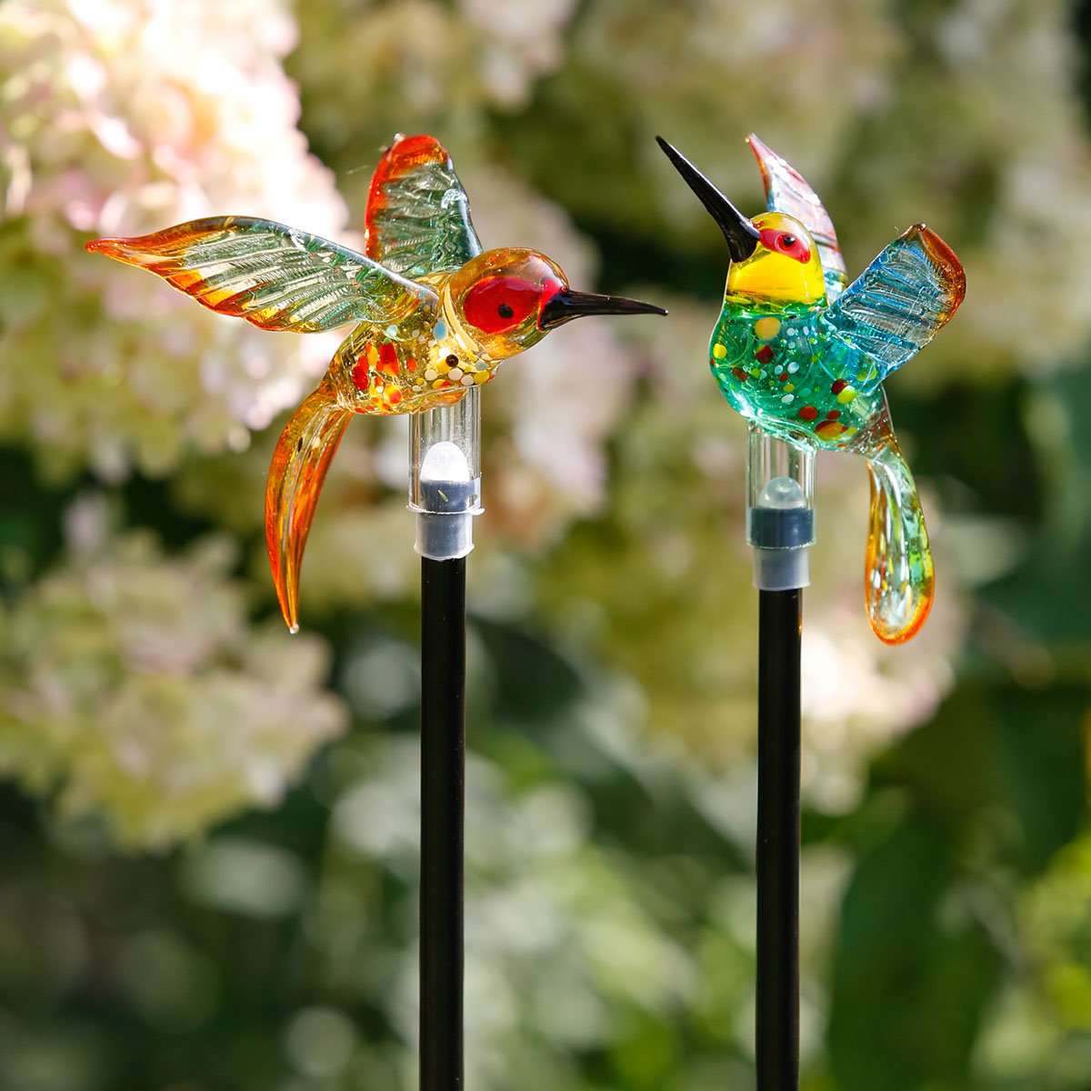 Solar-Gartenstecker Kolibri, 2er-Set